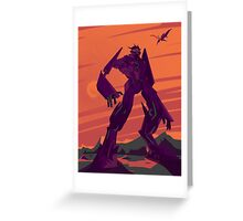 Poster Bot for the Decepticon Cause Greeting Card