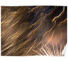 2011 New Years Fireworks - Sydney Harbour Poster