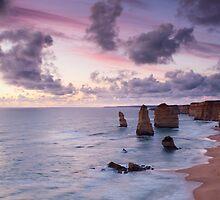 Purple Dusk - Twelve Apostles by Heath Carney