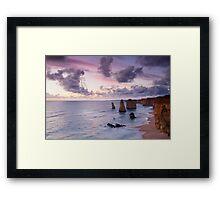 Purple Dusk - Twelve Apostles Framed Print