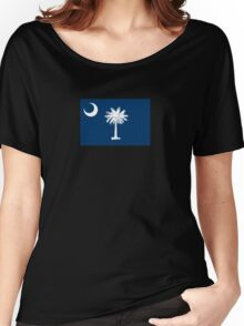 South Carolina State Flag Columbia Bedspread T-Shirt Sticker Women's Relaxed Fit T-Shirt