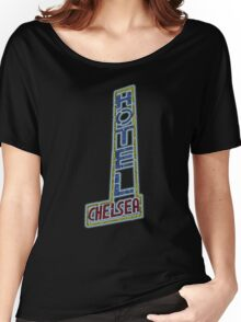 Hotel Chelsea Legends Typography Women's Relaxed Fit T-Shirt