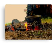 the camp fire Canvas Print