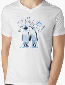 King Penguin's Love Song Mens V-Neck T-Shirt