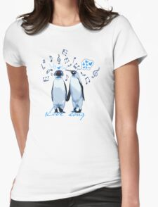 King Penguin's Love Song Womens Fitted T-Shirt