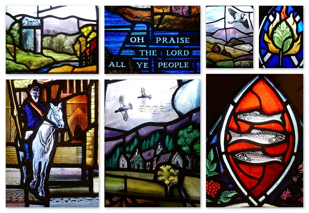 The Old Parish Church of Peebles ~ Stained Glass Windows by ©The Creative  Minds