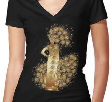 Carnival Woman Women's Fitted V-Neck T-Shirt