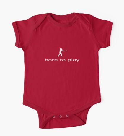 Born to Play Ball - Baseball Softball Bat T-Shirt - Sweater Clothing One Piece - Short Sleeve