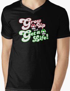 Grow Up and Get A Life Mens V-Neck T-Shirt
