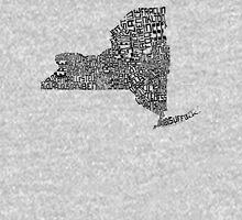 New York State Typographic Map Unisex T-Shirt
