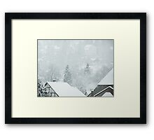 Snowy Nature Framed Print