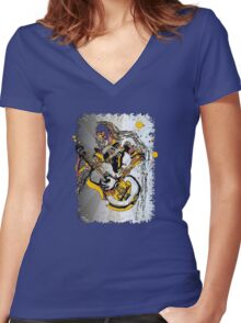 The Psychedelic 60's Women's Fitted V-Neck T-Shirt