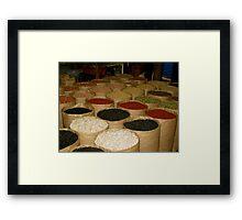 Market Beans Framed Print