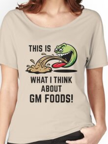 This Is What I Think About GM Foods! (Emoticon Smiley Meme) Women's Relaxed Fit T-Shirt