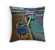 Dim Calm Afternoon- Corio Bay Geelong Throw Pillow