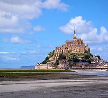 Mont St Michel, France by Ludwig Wagner