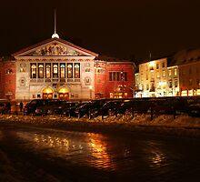 Århus Theater at Night by Lars Clausen