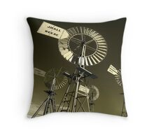 Mechanoid Madness - Metal Monster Menagerie 3 Throw Pillow
