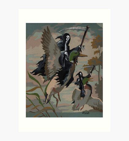Fowl Deaths Art Print