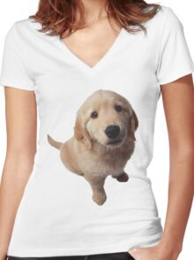 Puppy! Women's Fitted V-Neck T-Shirt