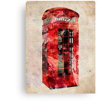 London Telephone Box Urban Art Canvas Print