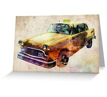 NYC Classic Taxi Urban Art Greeting Card
