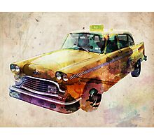 NYC Classic Taxi Urban Art Photographic Print
