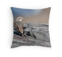 The Snow Bunting's Shoulder Check Throw Pillow