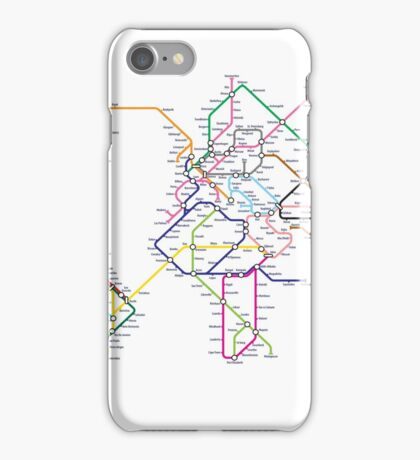 World Tube Metro Map iPhone Case/Skin