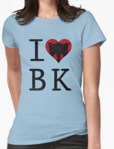I Love Brooklyn BK, NY Womens Fitted T-Shirt