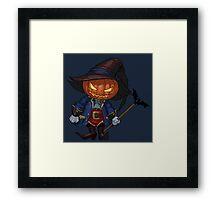 Jack-o-lantern in a hat Framed Print