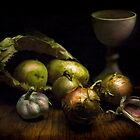 Still Life with Vegetables by Lucy Martin