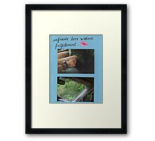 """infinite love without fulfillment"" Framed Print"