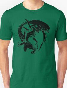 Alien Black & White Unisex T-Shirt