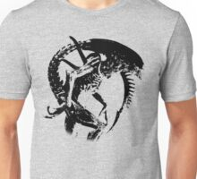 Alien Black & White Unisex T-Shirt