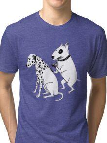Pittbul tattooing Dalmatian Tri-blend T-Shirt