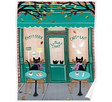 Le Petit Chat Cafe Poster