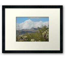 Clouds in the Desert Framed Print