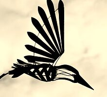 Silhouette of a mechanical bird - Hillier Gardens by Peter Wells