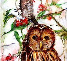 Owl in the Snow by Emma Kaufmann