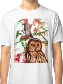 Owl in the Snow Classic T-Shirt