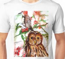 Owl in the Snow Unisex T-Shirt