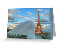 Showering The Eiffel Greeting Card