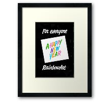FOR EVERYONE A HAPPY NEW YEAR Framed Print