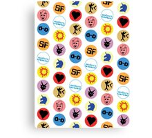 Library Geek - Library stickers Canvas Print
