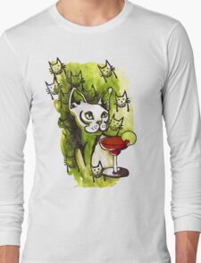 Emerald Cats with Margarita T-Shirt