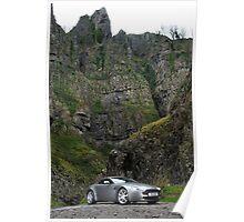 V8 Vantage Shot on Location in Cheddar Gorge ... Poster