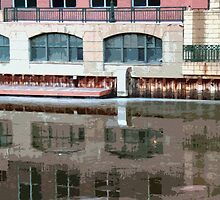 Reflection of Milwaukee River ©  by Dawn M. Becker