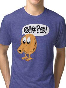 Retro Video Game Qbert T-Shirt Tri-blend T-Shirt