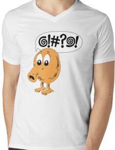 Retro Video Game Qbert T-Shirt Mens V-Neck T-Shirt